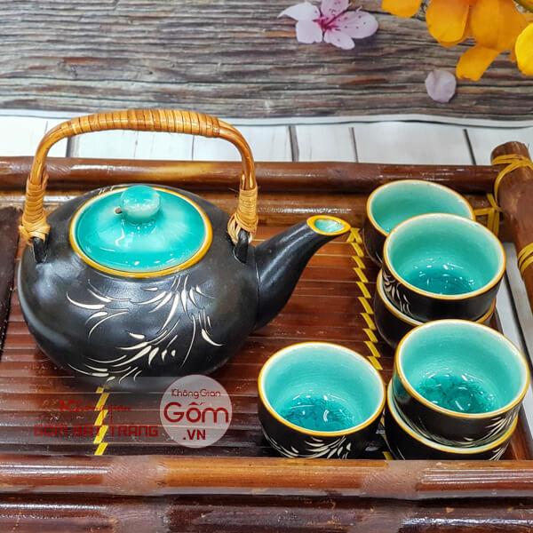 Mẫu ấm trà đẹp giá rẻ, ám chén Bát Tràng tại Không GIan Gốm
