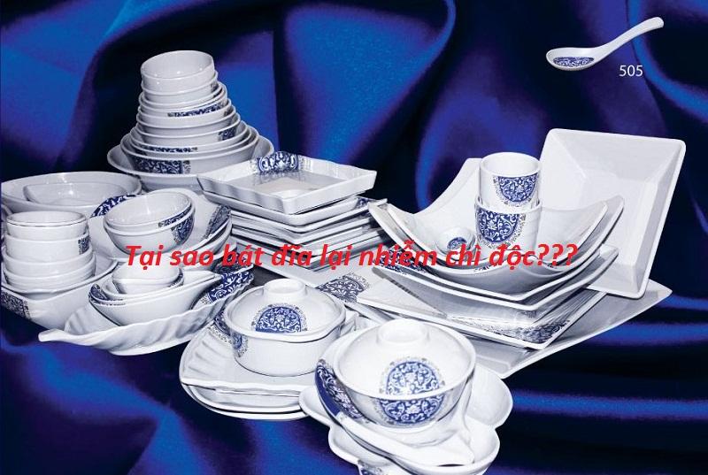Tại sao bát đĩa lại nhiễm chì độc?