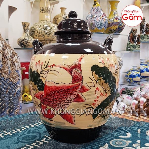 Vò ngâm rượu gốm sứ - Vò 30L Bát Tràng tại TPHCM, Đà Nẵng
