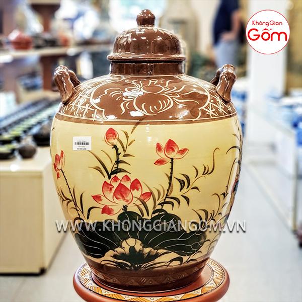 Vò ngâm rượu 20L - Cửa hàng gốm sứ Bát Tràng chính gốc HCM