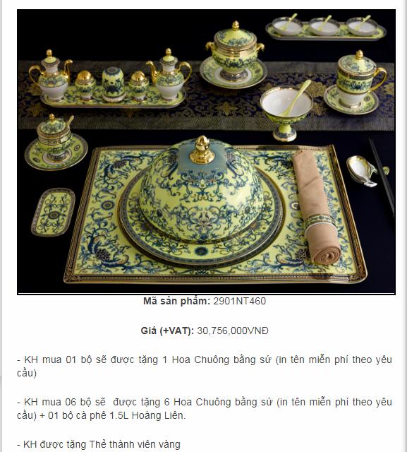 giá bộ bát đĩa phục vụ Apec Tại Đà Nẵng
