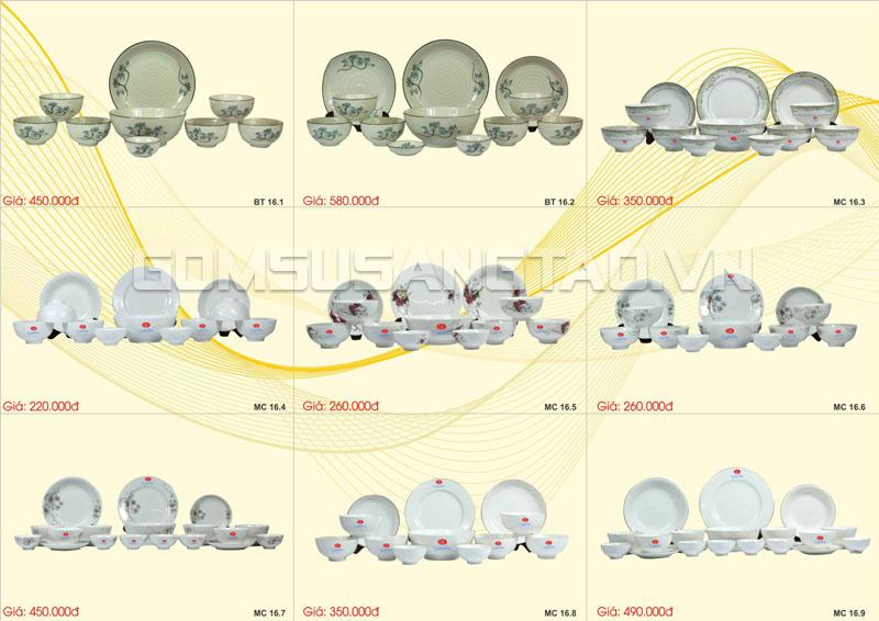 Quà tết khách hàng bộ bát đĩa đẹp chế tác thủ công từ Bát Tràng