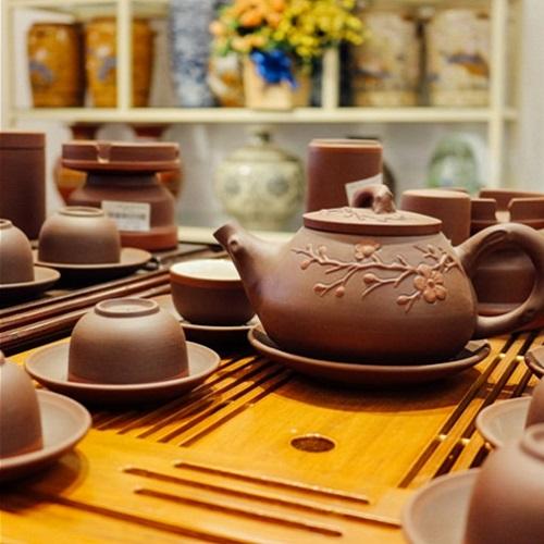 Ấm trà ấm chén Bát Tràng