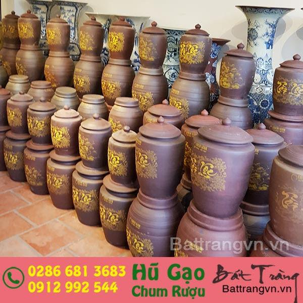 Hũ gạo Tài Lộc gốm sứ Bát Tràng