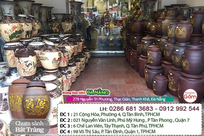 Cửa hàng bán chum rượu tại Đà Nẵng │ Vò rượu Bát Tràng gốm sứ