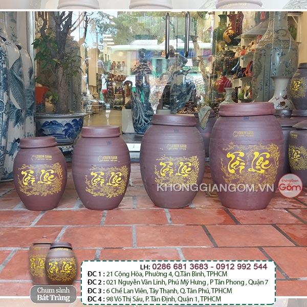 Địa chỉ cửa hàng mua chum bình ngâm rượu tại Tphcm