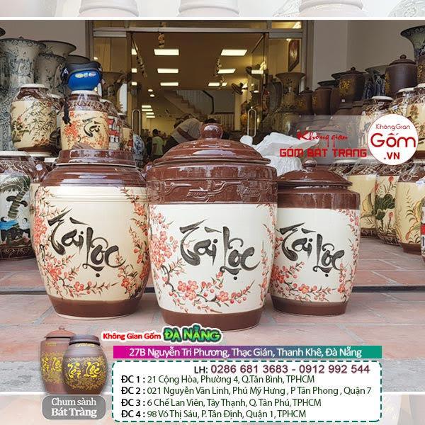 Hũ gạo tài lộc tại Đà Nẵng -Hũ gạo gốm sứ Bát Tràng