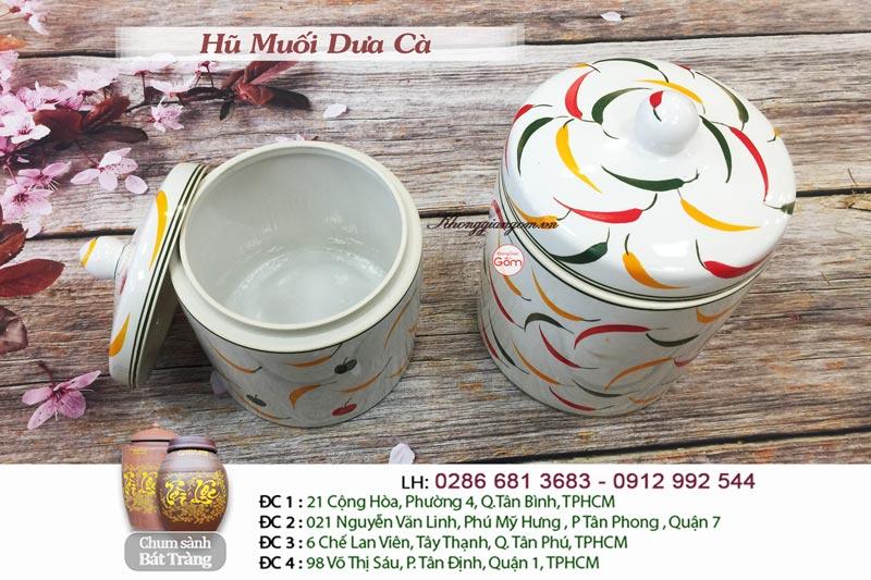 Địa chỉ cung cấp hũ muối dưa cà giá rẻ - gốm sứ Bát Tràng TPHCM