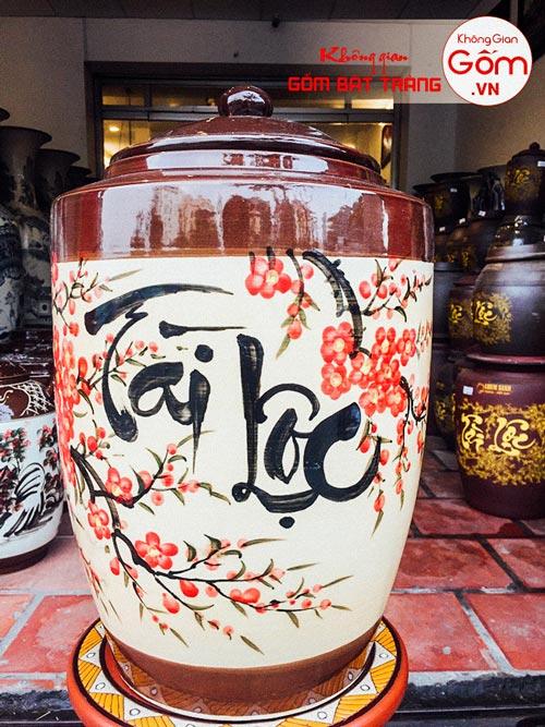 Hũ gạo Tài Lộc gốm sứ Bát Tràng tại Tphcm 15kg - CHÍNH GỐCHũ gạo Tài Lộc gốm sứ Bát Tràng tại Tphcm 15kg - CHÍNH GỐC