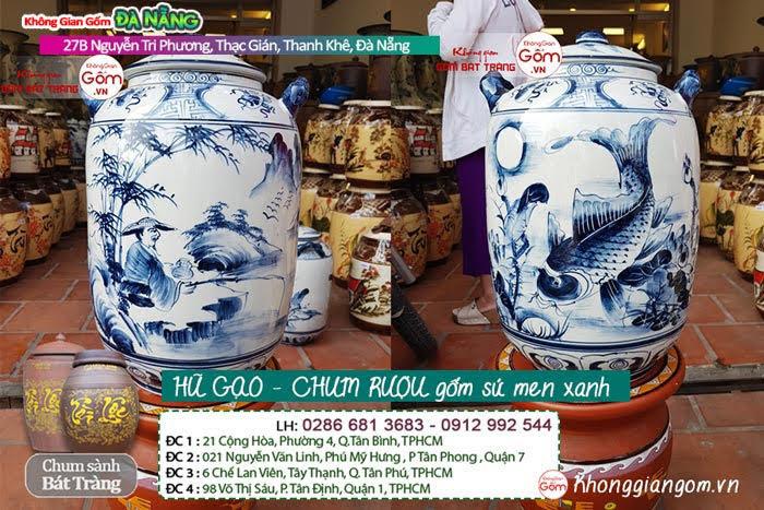 Hũ gạo gốm sứ men xanh - HŨ GẠO TẠI ĐÀ NẴNG