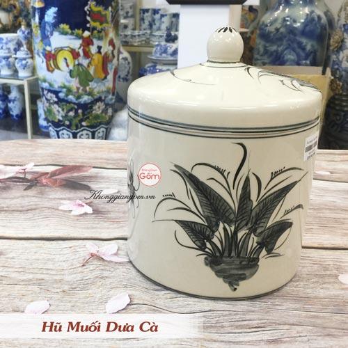 Hũ muối dưa cà gốm Bát Tràng - Giữ nguyên hương vị món dưa cà xưa