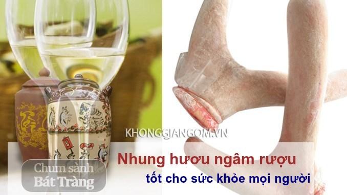 Dùng nhung hươu ngâm rượu tốt cho sức khỏe - Nhung hươu ngâm rượu