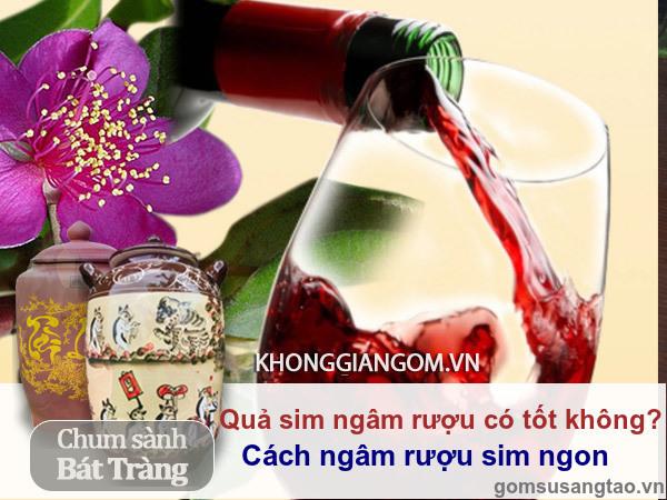 Quả sim ngâm rượu  có tốt cho sức khỏe không ?