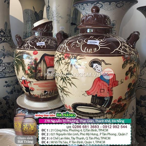 Mua thùng đựng gạo gốm sứ tại Đà Nẵng