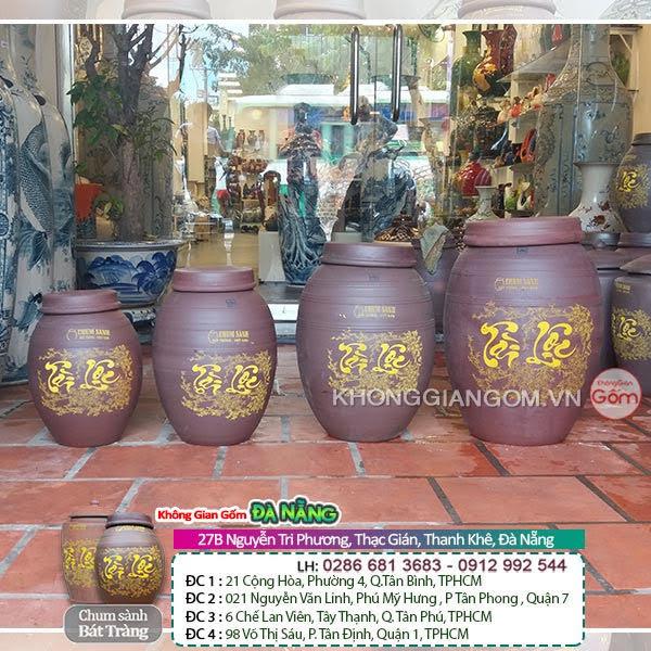 Bình ngâm rượu được sản xuất tại làng gốm Bát Tràng - Làng nghề nổi tiếng tại Việt Nam