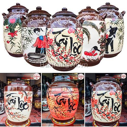 Bình ngâm rượu bát tràng tại Lâm Đồng