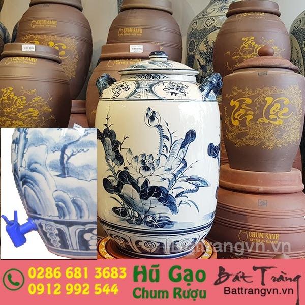 bình ngâm rượu bát tràng ở Bình Định