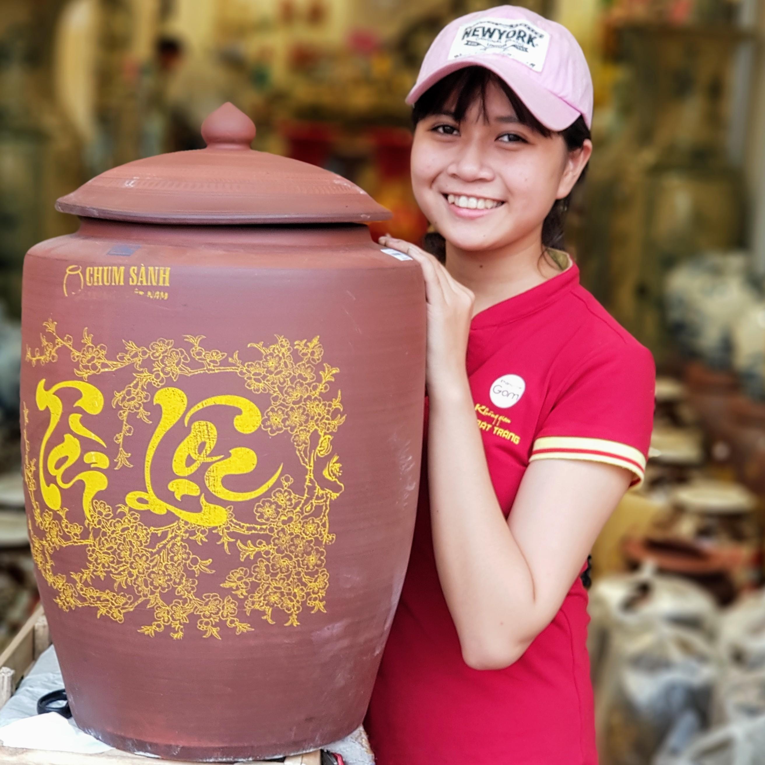 Cách bảo quản bình rượu cỡ lớn gốm sứ Bát Tràng