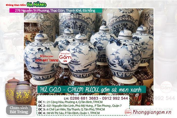 Hũ gạo - Chum sành gốm sứ Bát Tràng