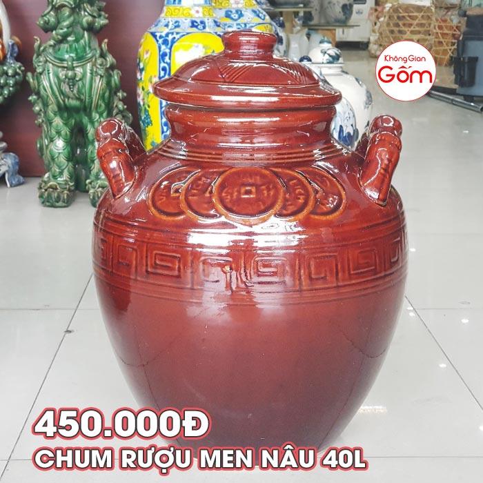 Chum sành ngâm rượu hạ thổ 40L giá rẻ │Không Gian Gốm