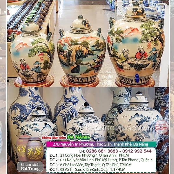 Hũ gạo gốm sứ được sản xuất tại làng gốm Bát Tràng rất được nhiều khách hàng quan tâm và ưa chuộng