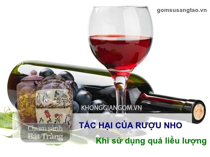 Tác hại của rượu nho khi sử dụng quá liều lượng