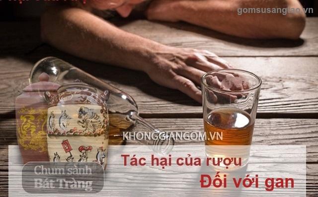 Những tác hại của rượu đối với gan