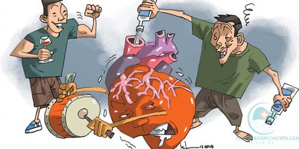 Sử dụng rượu quá nhiều sẽ gây ra rất nhiều hậu quả xấu cho gan - Tác hại của rượu đối với gan