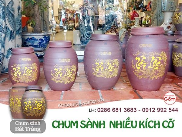 Chum sành ngâm rượu Bát Tràng tại Hà Nội - NHIỀU KÍCH THƯỚC