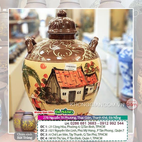 Bình ngâm rượu có vòi Quận Tân Phú - Bình rượu Bát Tràng