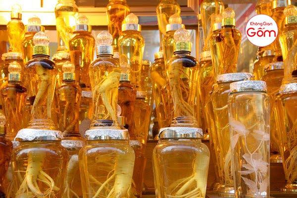 Bảng giá bình rượu ngâm gà đông tảo bằng thủy tinh