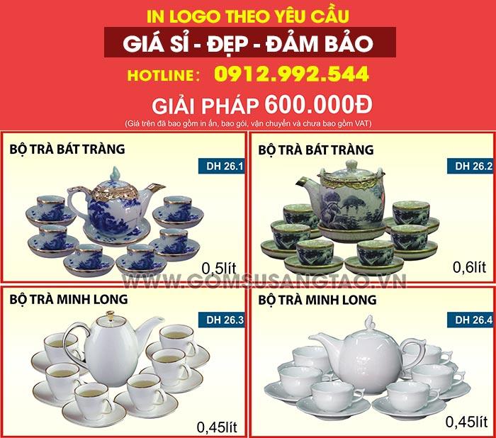 In logo lên ấm trà , ly sứ, cốc sứ, chén dĩa theo yêu cầu tại quận Tân Bình