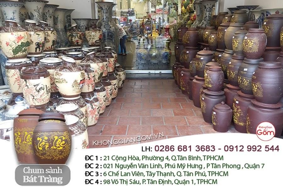 Mua chum sành ngâm rượu Bát Tràng tại Hà Nội