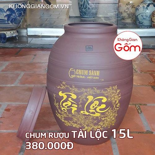 Chum sành ngâm rượu giá rẻ tại tphcm - Vò Rượu 5L 7L 10L 15L 30L...