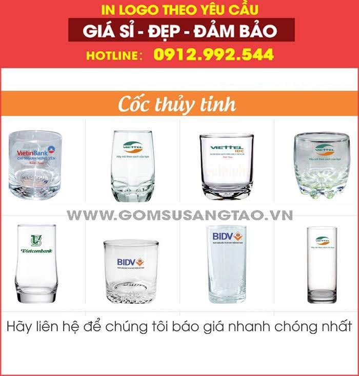 In logo quảng cáo sản phẩm - in hình lên ly thủy tinh tại Củ Chi tphcm