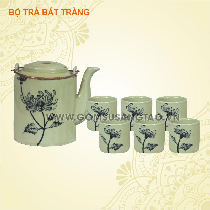 Cơ sở in logo giá rẻ Bến Tre lên bộ ấm trà, bộ bát đĩa, ly sứ