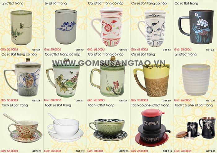 In logo lên quà tặng quận Bình Thạnh - bình trà , ly sứ, cốc sứ, chén dĩa