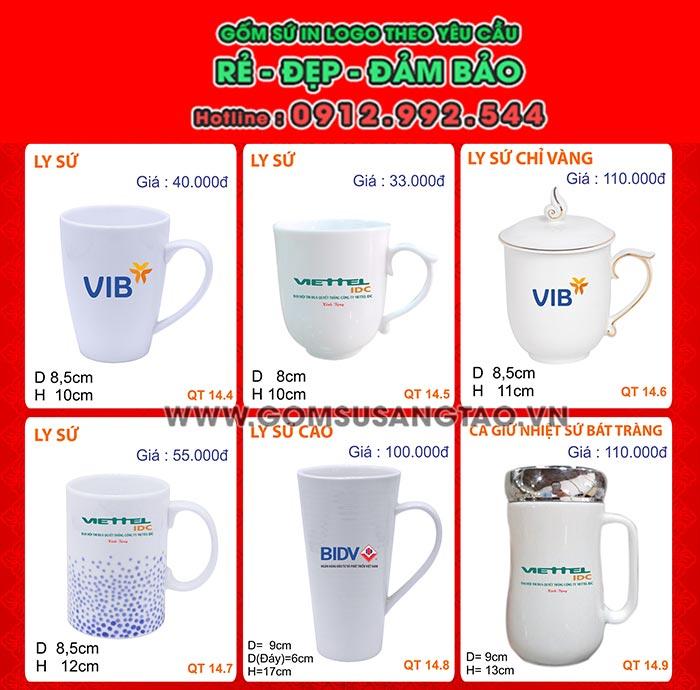 Ly sứ trắng giá rẻ ở đâu tphcm - Địa chỉ mua ly sứ in logo số lượng lớn