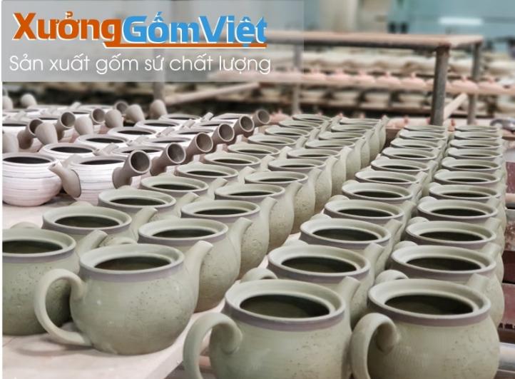 đơn vị sản xuất ấm chén Bát tràng tại Tp.HCM