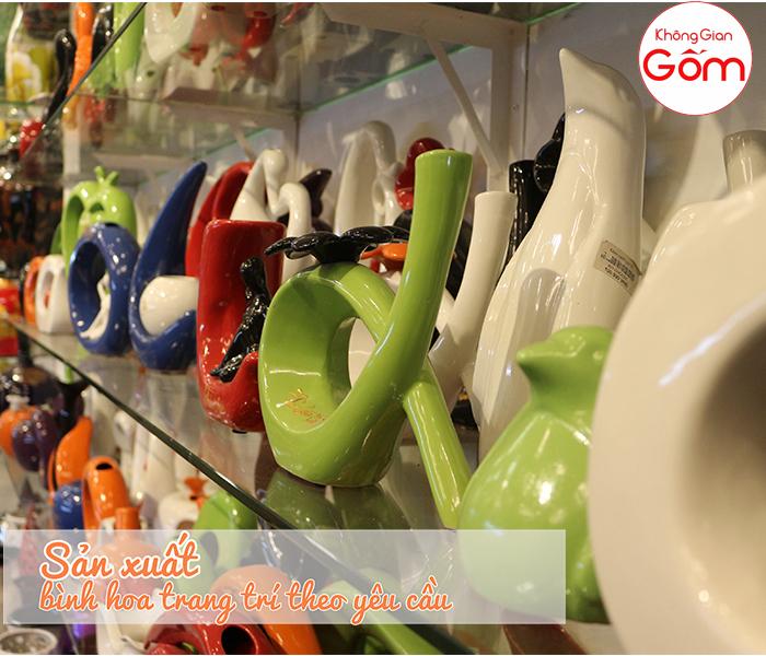 Địa chỉ sản xuất bình hoa Bát Tràng giá rẻ tại tphcm